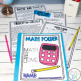 MATH folder- Multiplication Homework Log