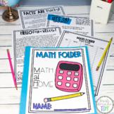 MATH folder- Multiplication Homework Log