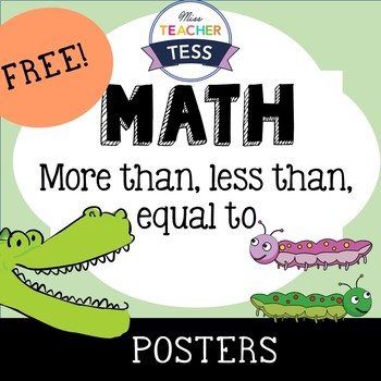 MATH posters: More than, Less than, Equal to