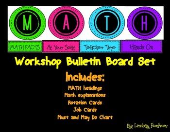 MATH workshop Bulletin Board Set