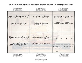 MATHMANJI! Escape Room - Multi-Step Equations and Inequalities