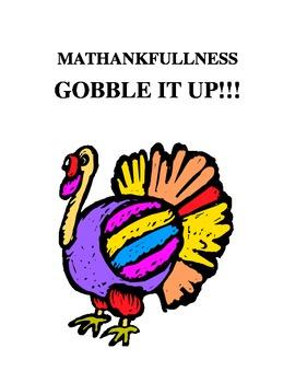 MATHANKFULLNESS...GOBBLE IT UP!!