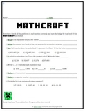 MATHCRAFT: Fifth Grade Math Review Packet
