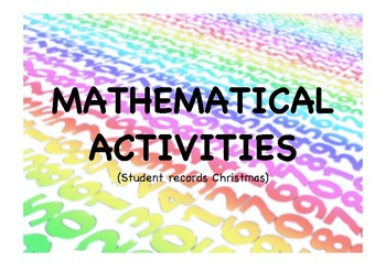 MATHEMATICAL ACTIVITIES (CHRISTMAS)