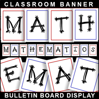 #1 Back-To-School! MATH Bulletin Board Display for Classroom Signage!
