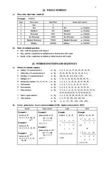 MATHEMATICS FORMULAE BOOK 1
