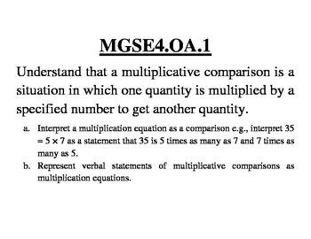 GA 4th Grade Standards: Mathematics