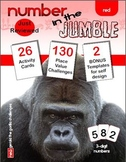 """MATHEMATICS: PLACE VALUE; """"Number in the Jumble"""" 3 digit numbers Activity Pack"""