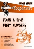 MATHEMATICS: Place Value & Number Sequence; 4 & 5 digit numbers Activity Pack