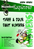 MATHEMATICS: Place Value and Number Sequences: 3 & 4 digit number Answer Pack