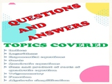 Mathematics Questions Worksheets & Teaching Resources | TpT