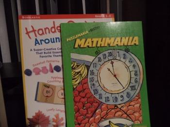 MATHMANIA, HANDS-ON MATH   (set of 2)