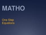 MATHO 1 Step Equations