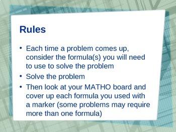 MATHO: Formula Review Game