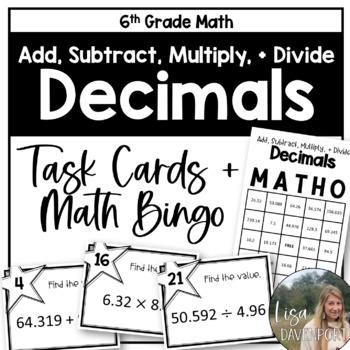 MATHO (Math Bingo)- Adding, Subtracting, Mult & Div Decimals