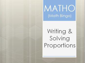 MATHO (Math Bingo)- Proportions