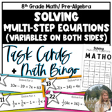 MATHO- Math Bingo (Solving Multi-Step Equations)