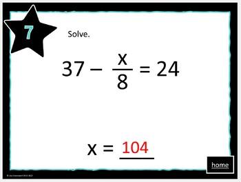 MATHO (Math Bingo)- Solving Two-Step Equations