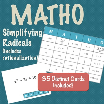 MATHO - Simplifying Radicals, Including Rationalization