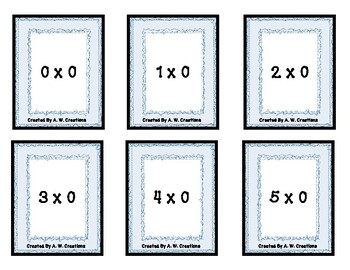 MATHO! (Uno) Card Game - Multiplication Facts 0 to 12