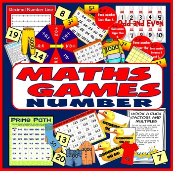 MATHS BOARD GAMES & ACTIVITIES TEACHING RESOURCES KS2-4 NUMBER TIMES TABLES