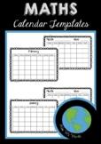 MATHS - Calendar Templates