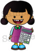 MATHS Clipart set. BLACK AND WHITE & Color Bundle. {Lilly Silly Billy}
