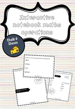 MATHS OPERATIONS INTERACTIVE NOTEBOOK