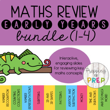MATHS REVIEW FOUNDATION BUNDLE- (PACK 1, 2, 3 AND 4)