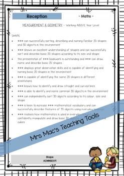 MATHS - Report Writing Comments - Rec - Foun - Australian Curriculum