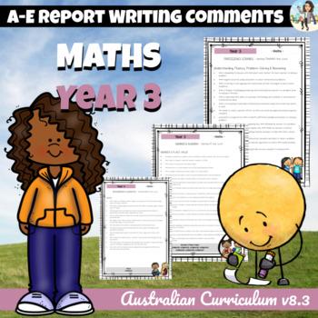Maths - Australian Curriculum - Report Writing - Year 3