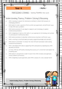 Maths - Australian Curriculum - Report Writing - Year 4