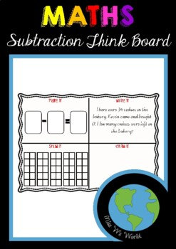 MATHS - Subtraction Think Board