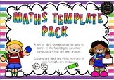 MATHS TEMPLATE PACK - FREE