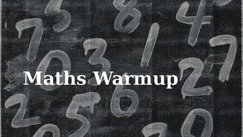 MATHS WARM UP V.3 FULLY EDITABLE YEAR 6