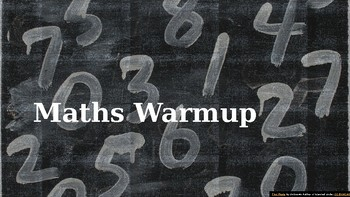 MATHS WARM-UP V.4 FULLY EDITABLE YEAR 6