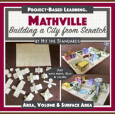 MATHVILLE Build a City Math Project STEM PBL Geometry, Are