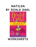 MATILDA BY ROALD DAHL WORKSHEETS