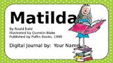 MATILDA Roald Dahl - EDITABLE Chapter Summary Journal - Links to Sheena Cameron