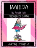 MATILDA by Roald Dahl - Discussion Cards PRINTABLE & SHAREABLE