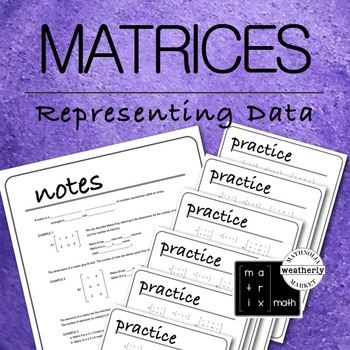 MATRICES - Real World Applications