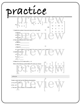 MATRICES - an introduction