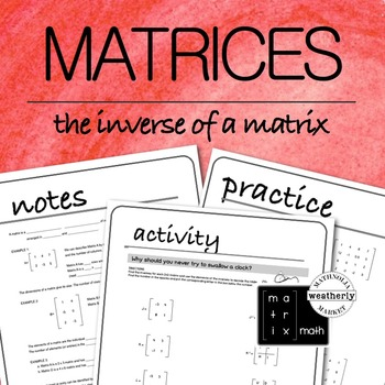 MATRICES - the inverse of a matrix