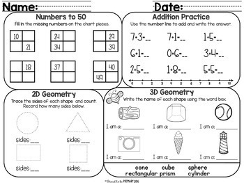 Free Reading Comprehension, Writing, Math & Listening Review Activities