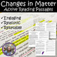 MATTER Active Reading Science BUNDLE- Ready to print and use TODAY