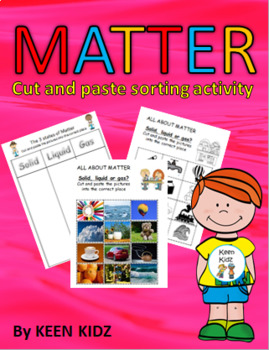 MATTER CUT AND PASTE ACTIVITY