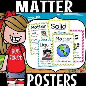 MATTER POSTERS PLUS WORKSHEETS