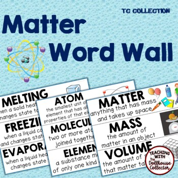 MATTER WORD WALL - From the TC Collection