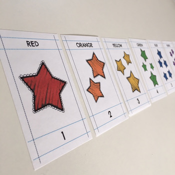 MATcH CARDS STARS: Color and Counting