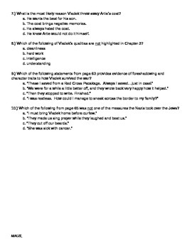 MAUS Chapter 3 Questions / Conflict Graphic Organizer + Common-Core Style
